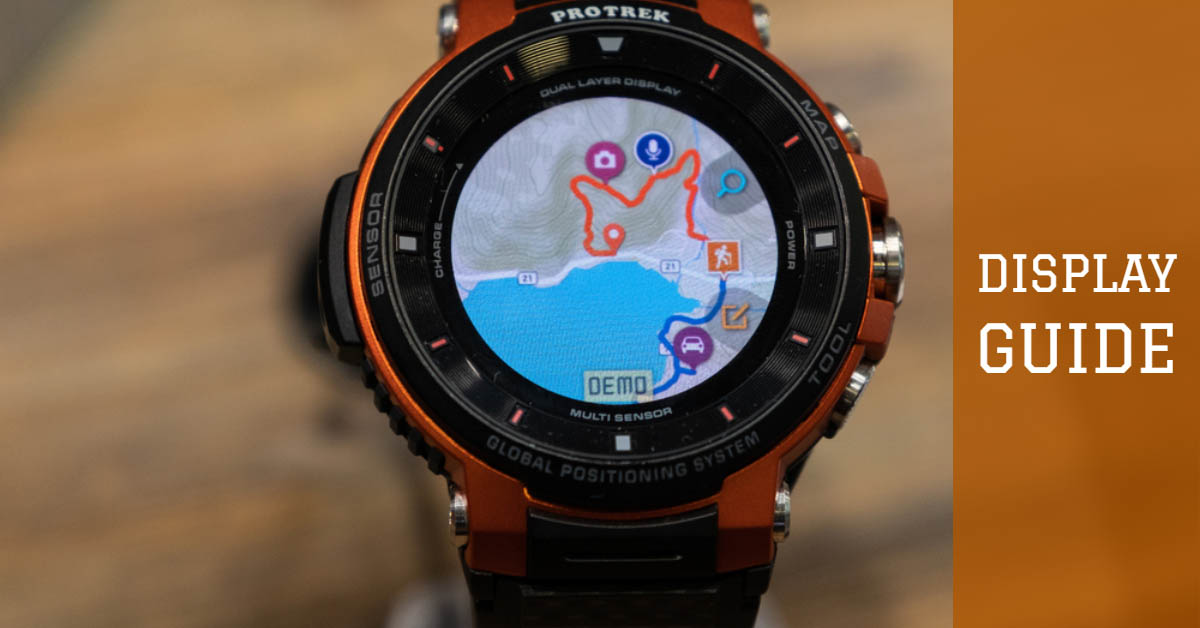 GPS Kayaking Watch Display Guide