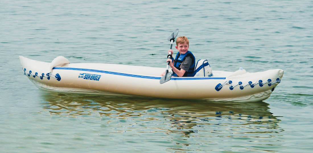 sea eagle 370 inflatable kayak solo use