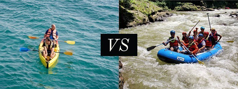 Kayak vs Raft