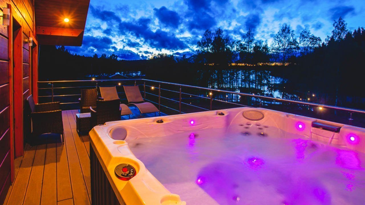 LED in hot tubs