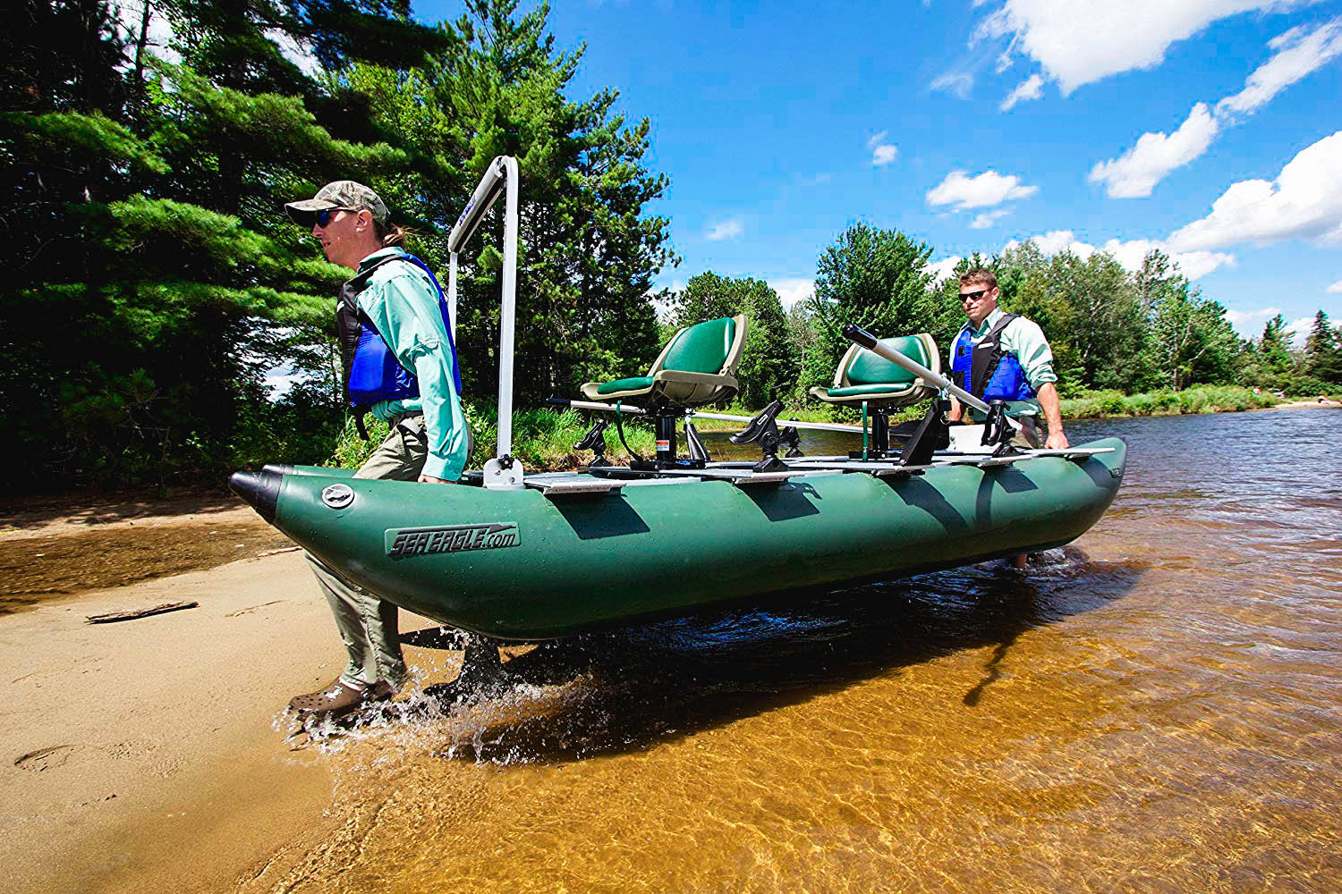 transporting an inflatable boat
