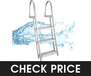 8 - RecPro 3 Steps Pontoon Boat Ladder