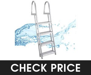 5 - RecPro 4 Steps Pontoon Boat Ladder