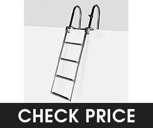 9 - RecPro Heavy Duty Pontoon Boat Ladder