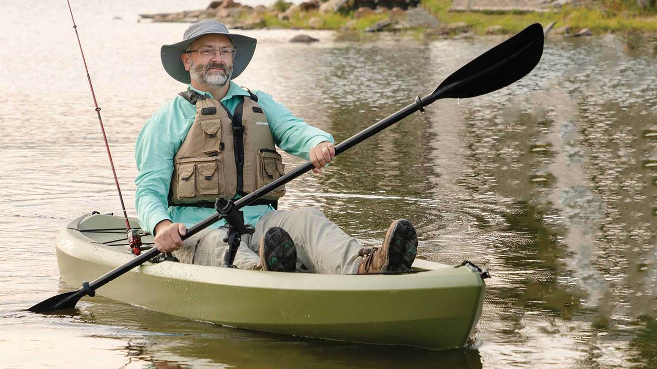 Fishing on Tamarack Angler 100