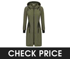 Elesol Rain Jacket Women Long Raincoats