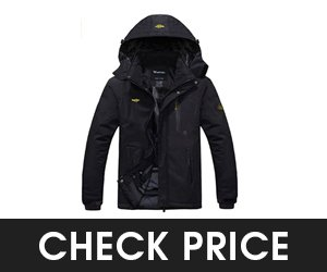Wantdo Mens Mountain Waterproof Winter Warm Raincoat