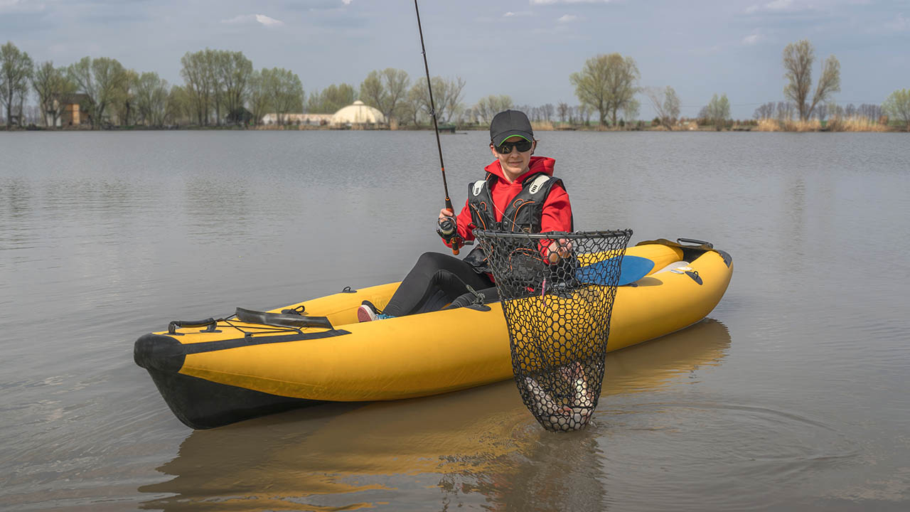 fishing on a inflatable kayak